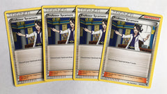 4x Professor Sycamore 107/122 XY BREAKpoint - Playset of 4