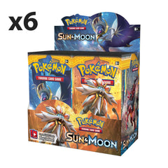 SUN & MOON Case (6 Sealed Booster Boxes- 216 Packs )**Available Now!!
