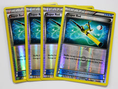 4x Super Rod 149/162 REVERSE HOLO XY : BREAKthrough