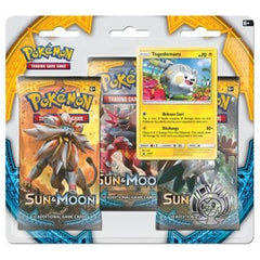 Sun & Moon 3-Pack Blister with Promo (Litten & Togedemaru) - Set Of 2 Brand New