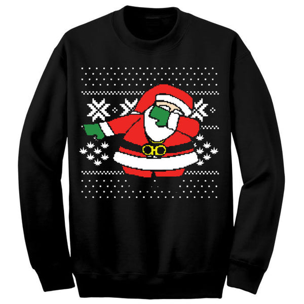Dabbing Santa Sweater(black)