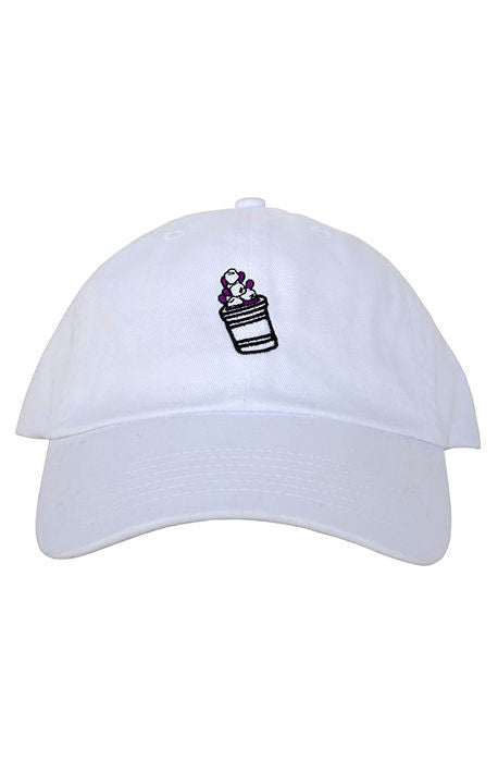 Lean Cup Dad Hat(white)