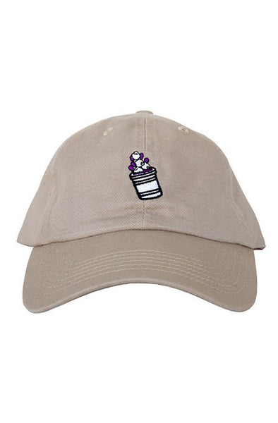 Lean Cup Dad Hat(tan)