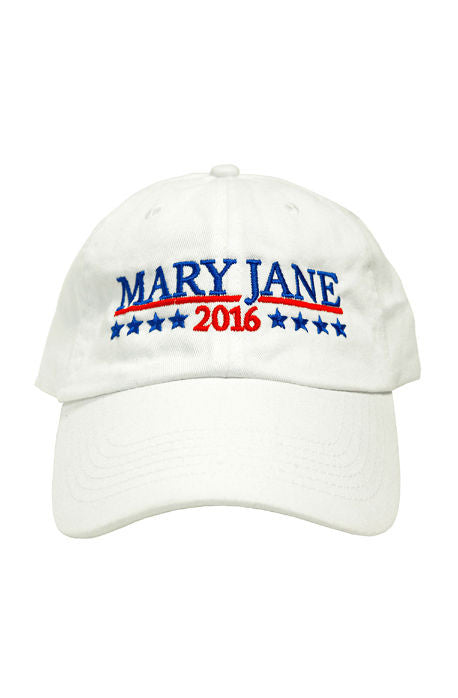 Mary Jane Dad Hat(white)