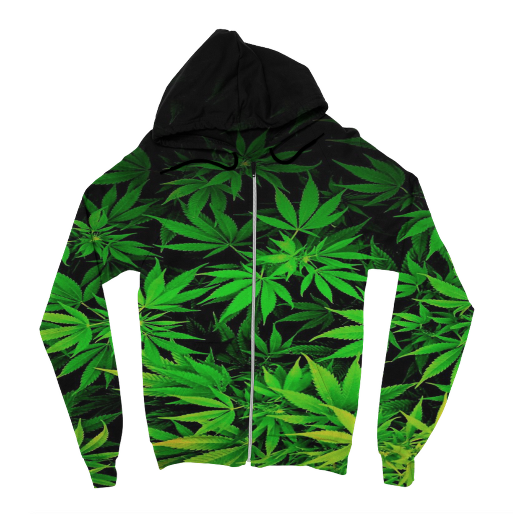 Faded Leaves Zip Up Hoodie
