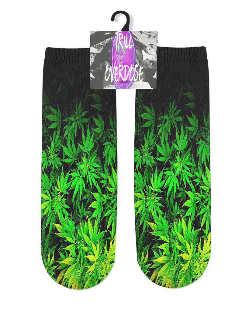 Faded Marijuana Socks