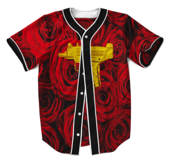 Red Roses and Gold Uzi's Jersey