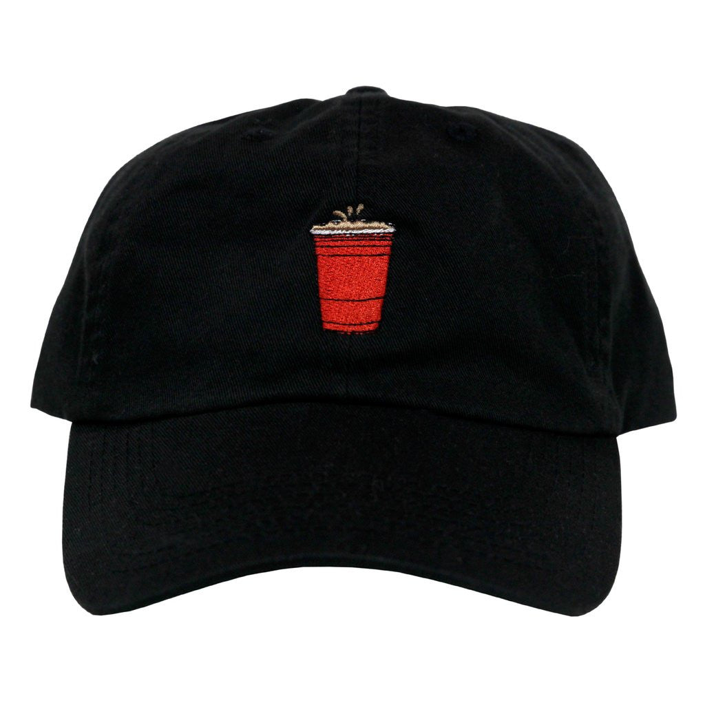 Party Cup Dad Hat (black)