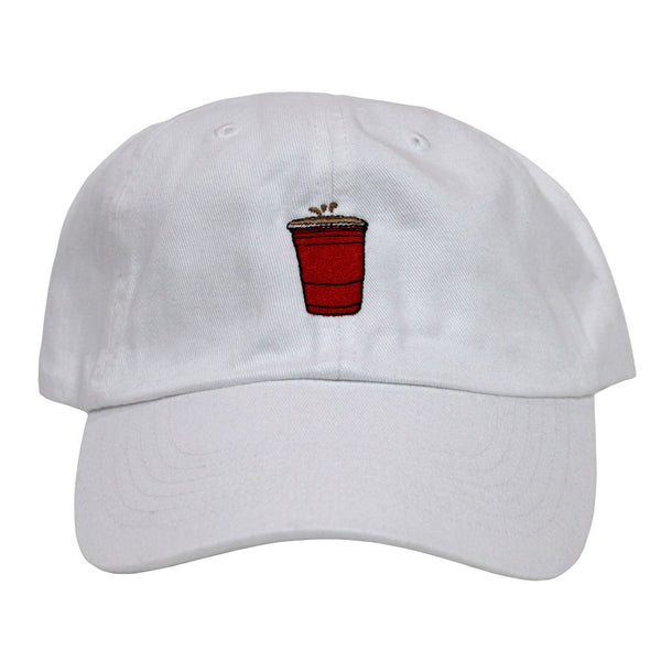 Party Cup Dad Hat (white)