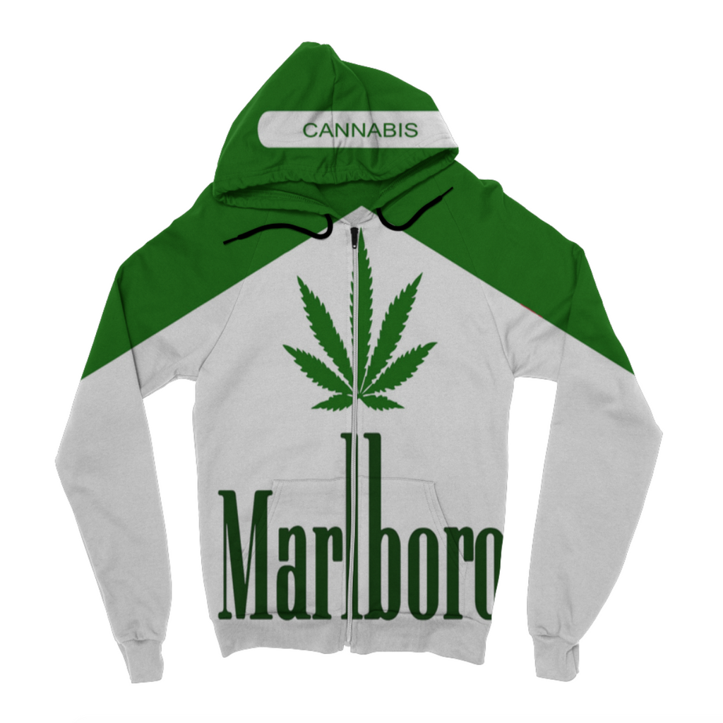 Marijuana Pack Zip Up Hoodie