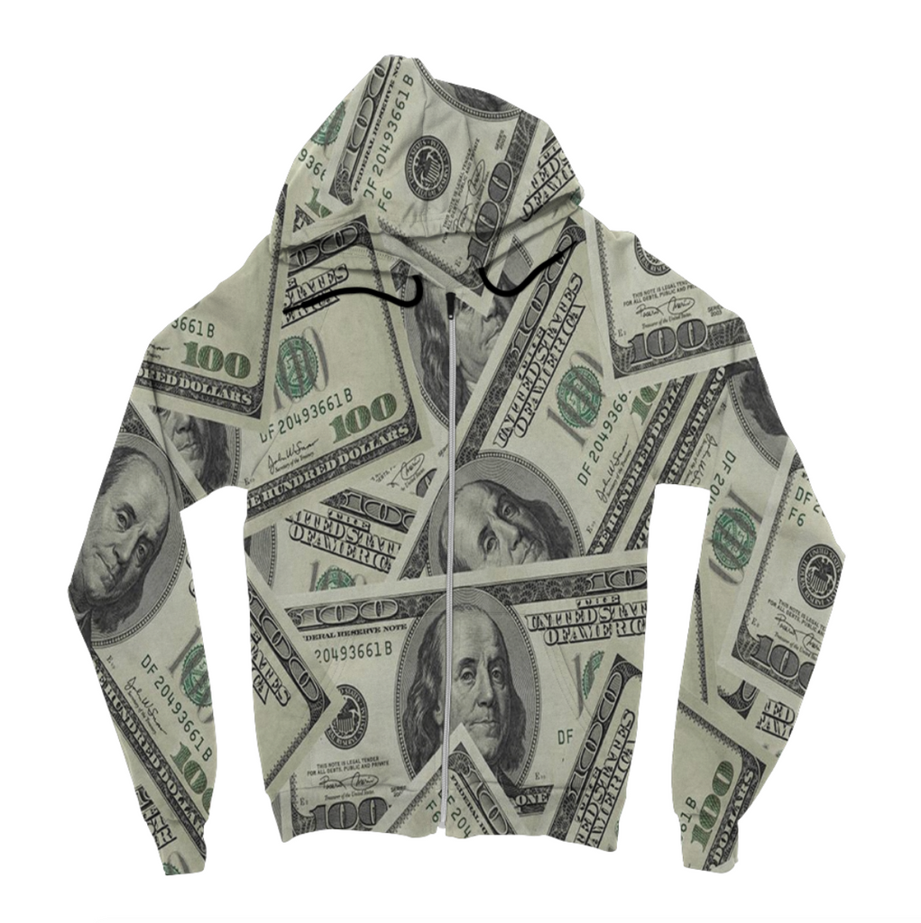 Money Zip Up Hoodie