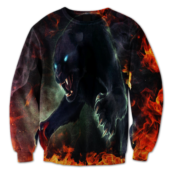 Panther On Fire Crewneck