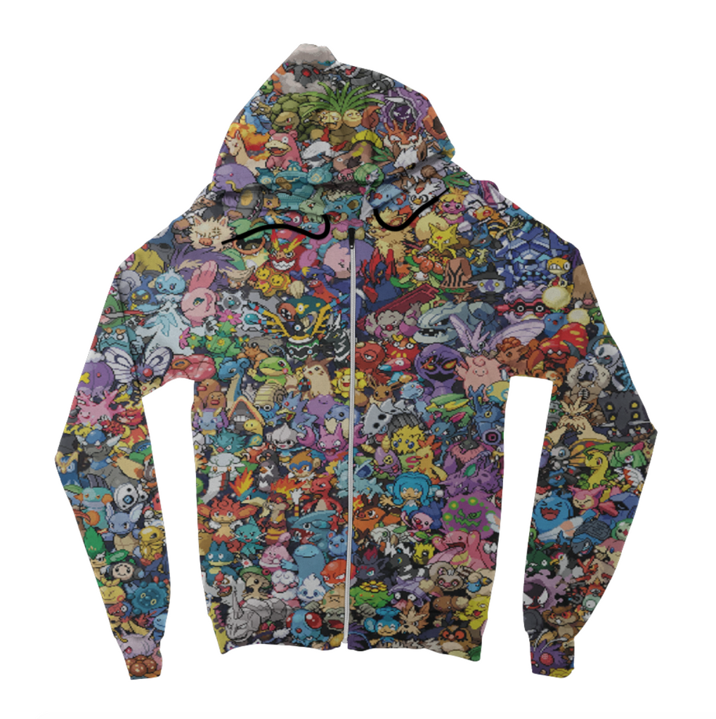 Pokemon Collage Zip Up Hoodie