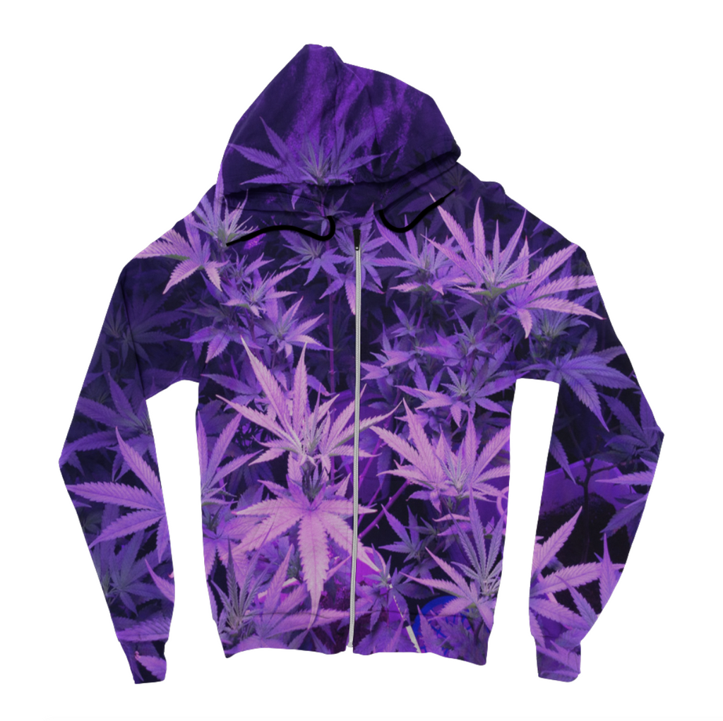 Purple Leaves Hoodie