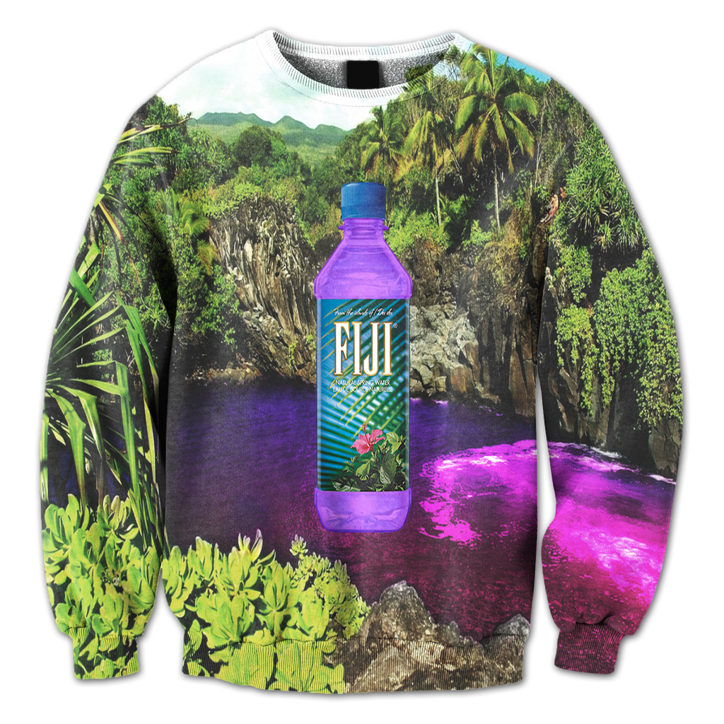 Purple Waterfalls Crewneck