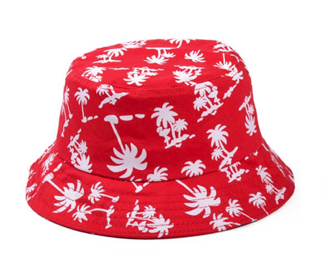 Palm Trees Bucket Hat (Red)