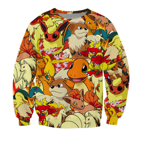 Fire Pokemon Crewneck