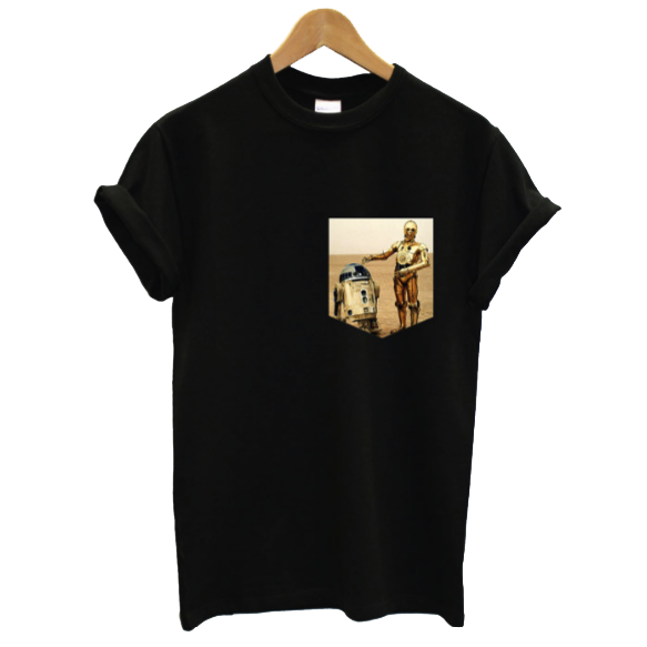 R2-D2 and C-3PO Pocket Tee