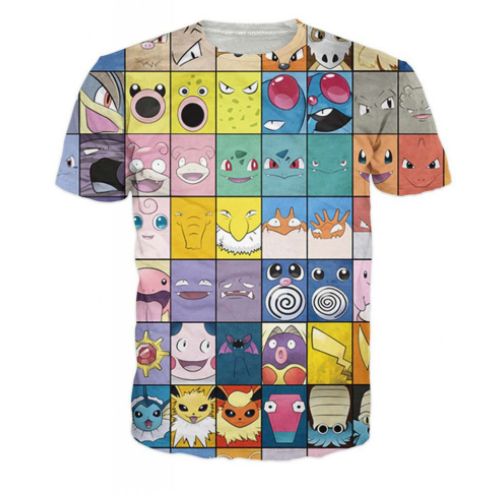 Pokemon Blocks T Shirt