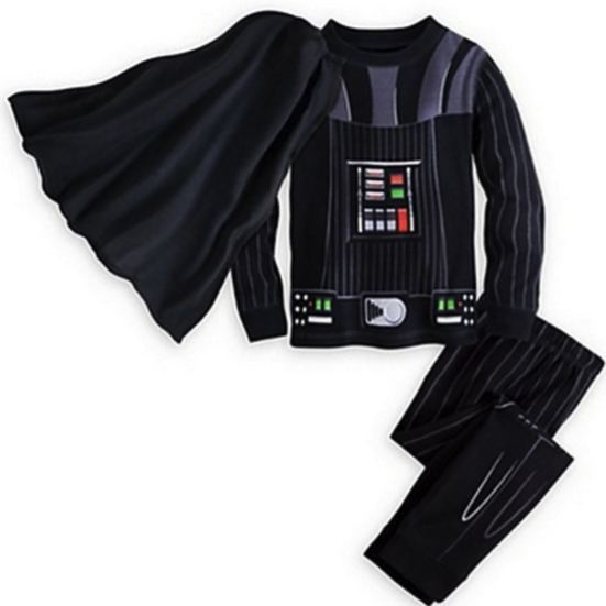 Kids Darth Vador Costume Pajama Set