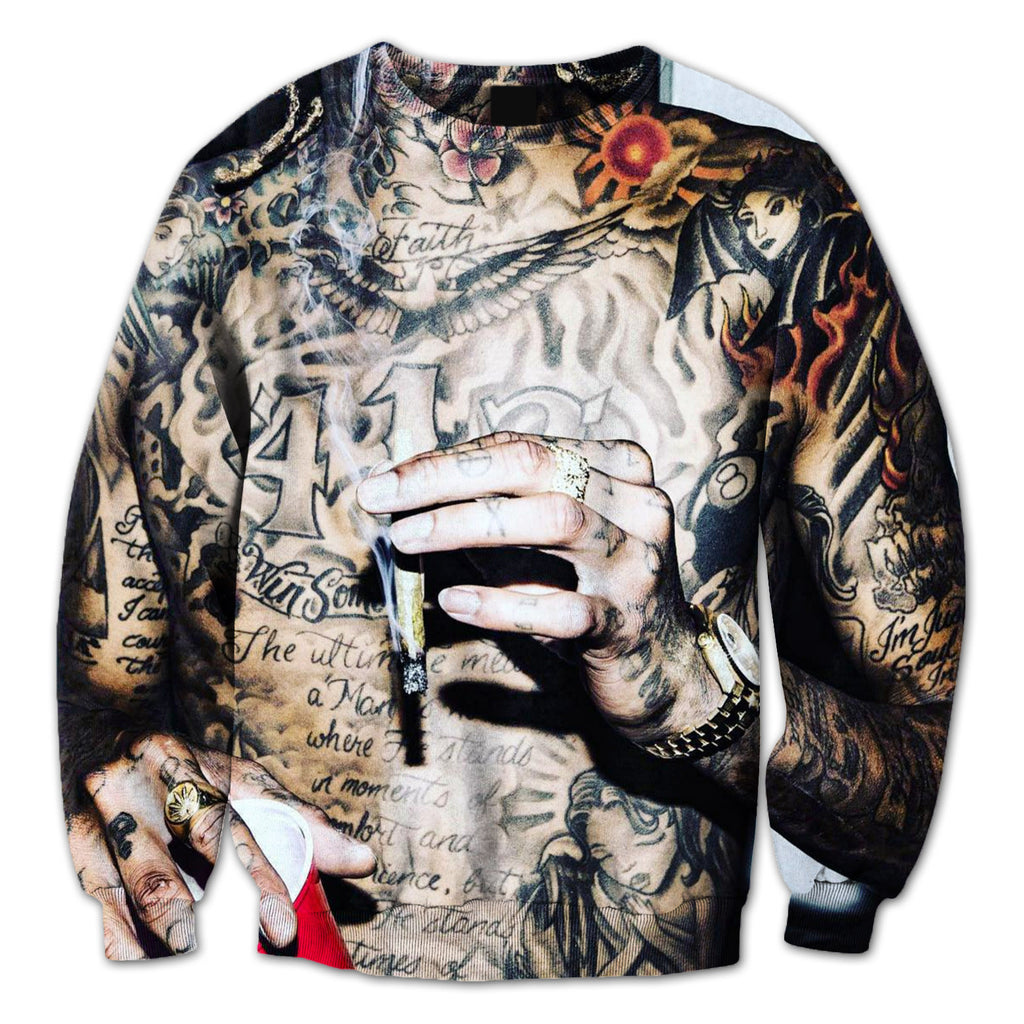 Wiz Khalifa Tatted Crewneck