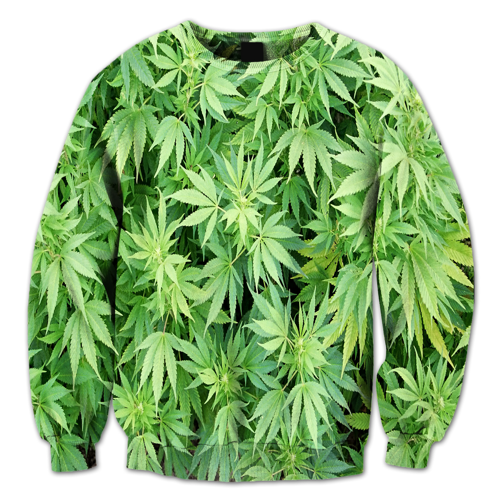 Marijuana Leaves Crewneck