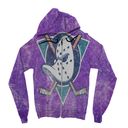 Mighty Duck Zip Up Hoodie