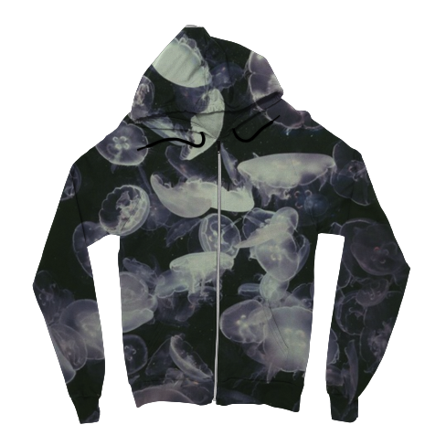Jelly Fish Zip Up Hoodie