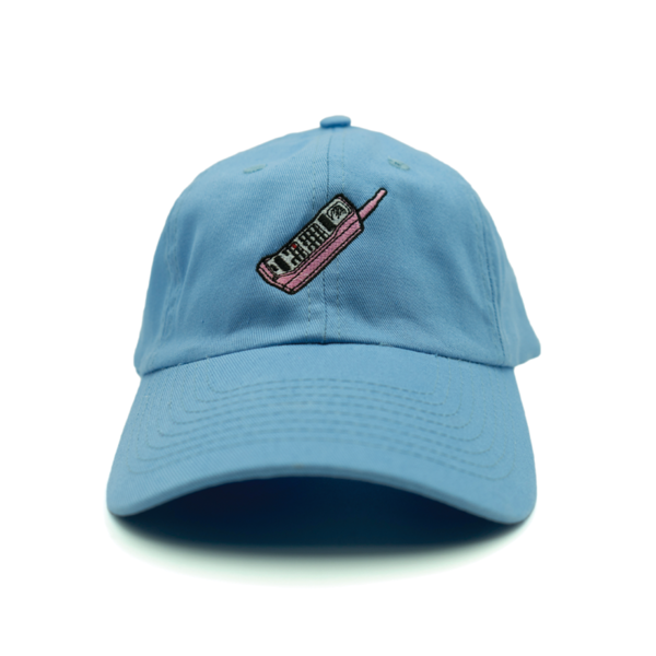 Mobile Phone Dad Hat - Blue