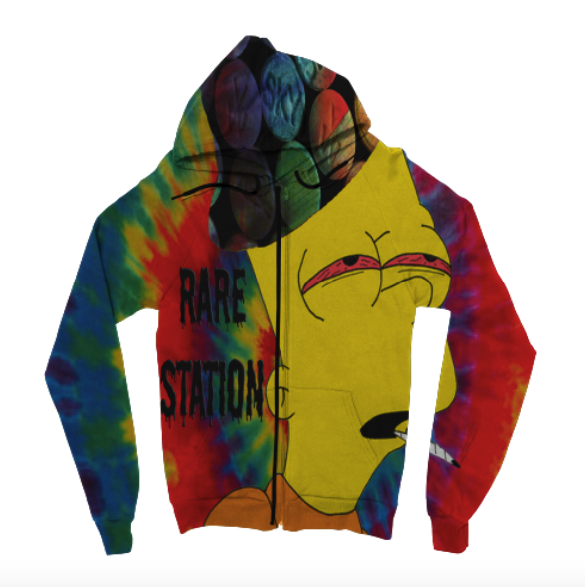 Rare Station Zip Up Hoodie