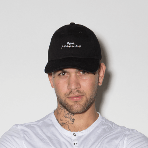 Real Friends Dad Hat - Black