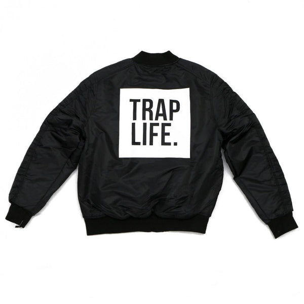 Trap Life Bomber Jacket(Black)