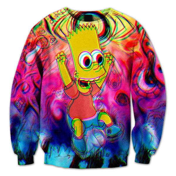 Trippy Bart Crewneck