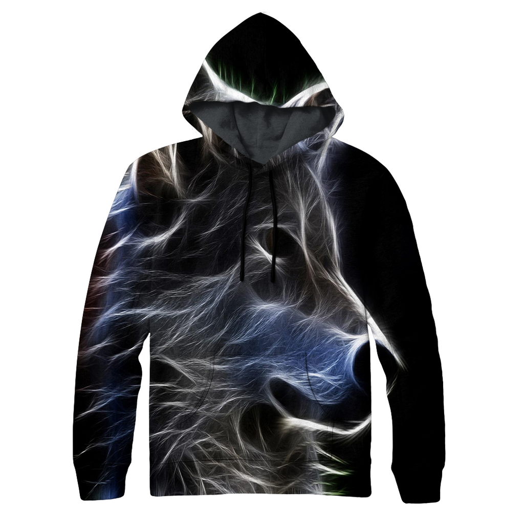 Abstract Wolf Hoodie