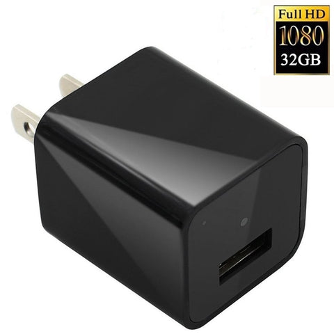 1080 HD USB Wall Charger Hidden Spy Camera with Mini DVR
