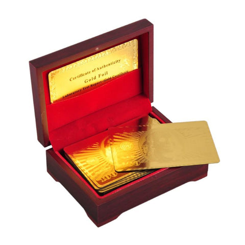 http://fandanothingordinary.com/products/24k-gold-foil-plated-poker-card-playing-card-game-with-high-quality-box-and-certificate