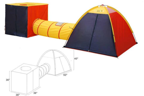 Fun Center tent for kids with tunnel