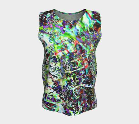 Aleph - Loose Tank Long &&-Loose Tank Top (Long)-Fate Designs-Fate Designs