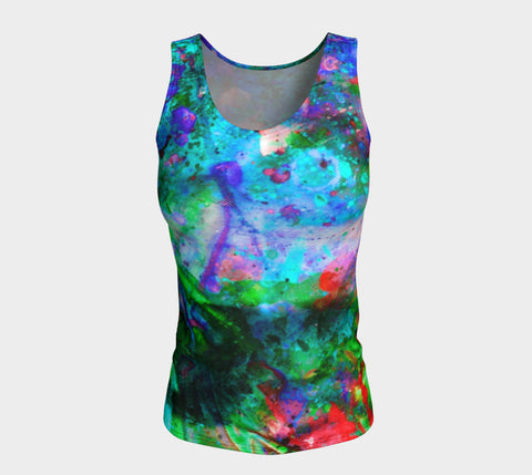 Chasm - Long Tank Top &&-Fitted Tank Top (Long)-Fate Designs-Fate Designs
