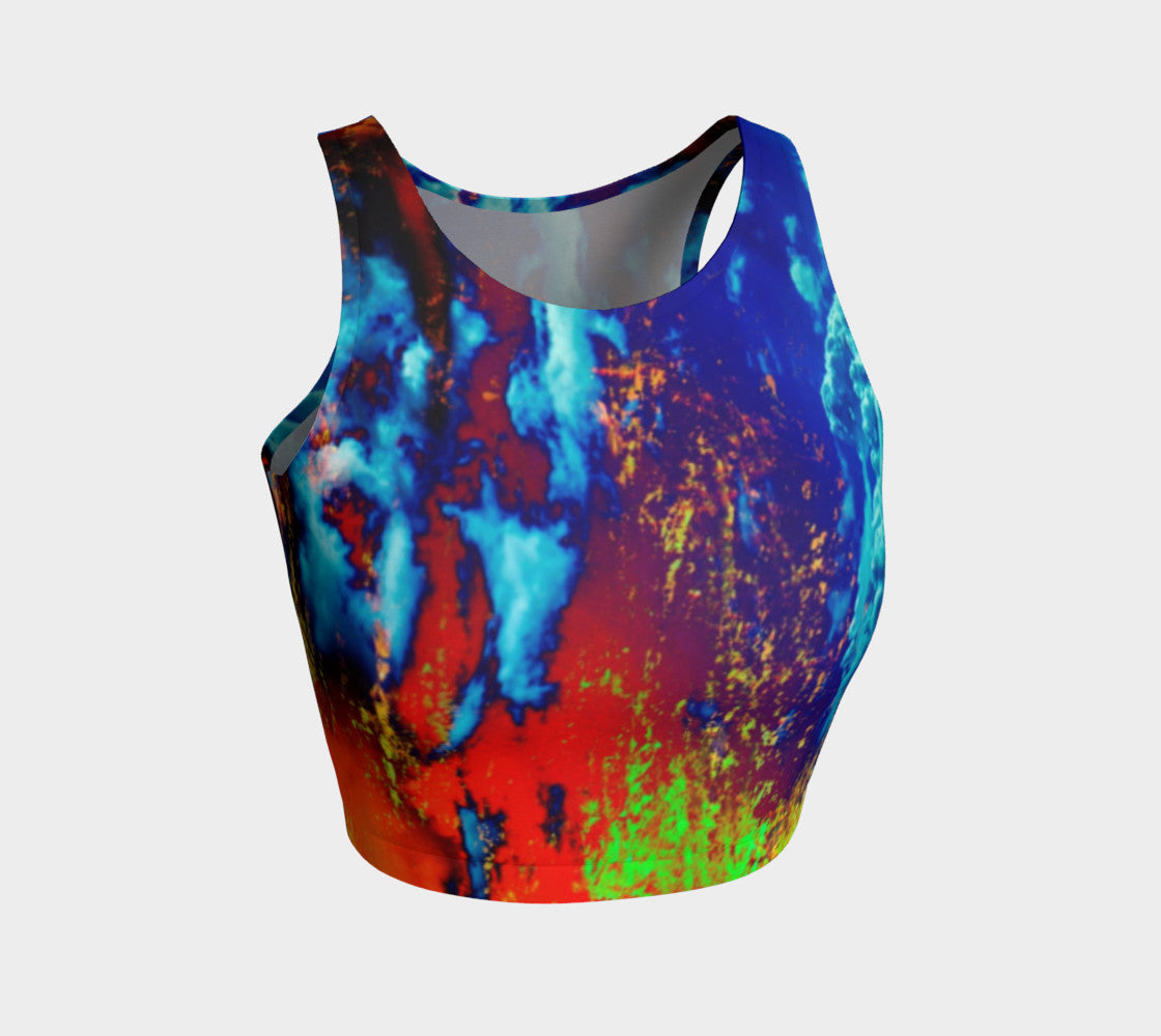 Electric Ocean - Crop Top-Athletic Crop Top-Fate Designs-Fate Designs
