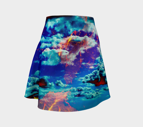 Electric Ocean - Flare Skirt-Flare Skirt-Fate Designs-Fate Designs
