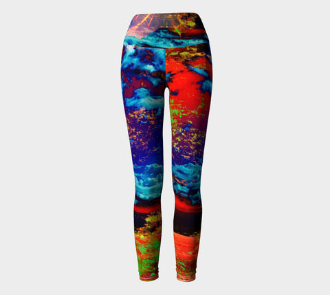 Electric Ocean - Yoga Leggings-Yoga Leggings-Fate Designs-Fate Designs