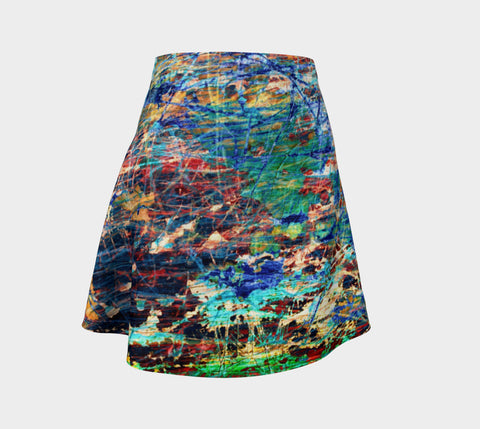 Face of Time - Flare Skirt-Flare Skirt-Fate Designs-Fate Designs