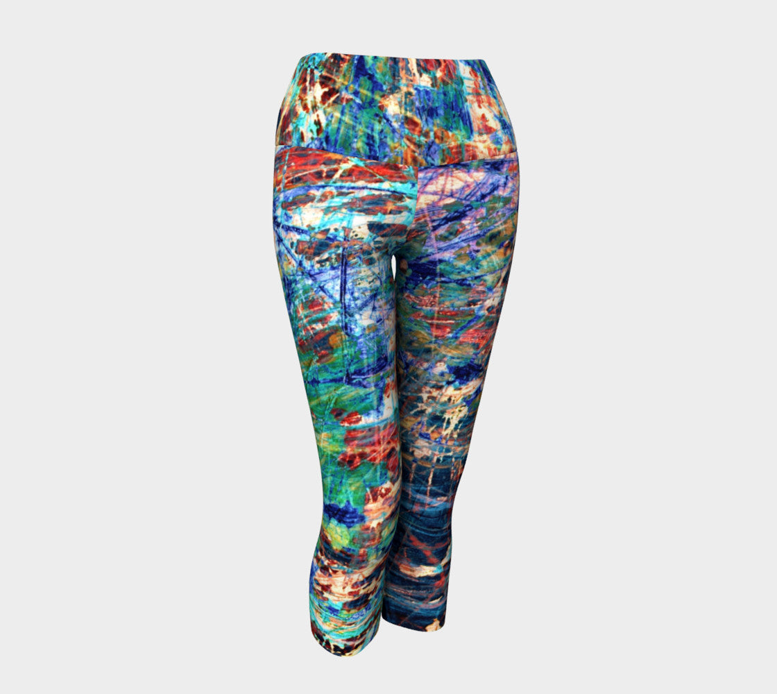 Face of Time - Yoga Capris-Yoga Capris-Fate Designs-Fate Designs