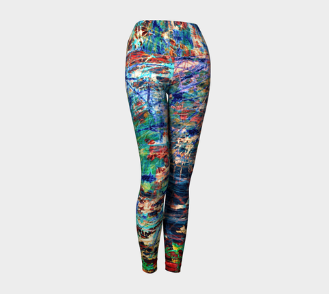 Face of Time - Yoga Leggings-Yoga Leggings-Fate Designs-Fate Designs