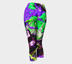 Hot Fugue - Yoga Capris-Yoga Capris-Fate Designs-Fate Designs