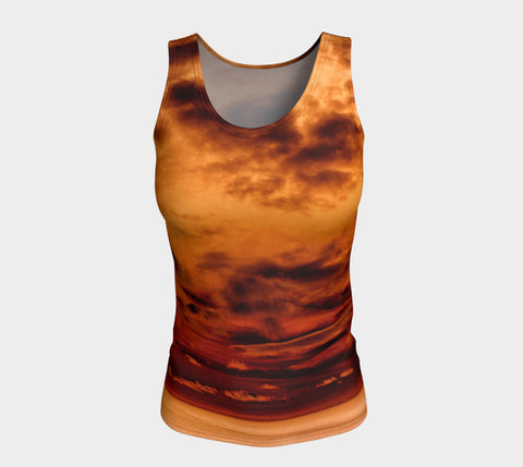 Illusion of Contradiction - Long Tank Top &&-Fitted Tank Top (Long)-Fate Designs-Fate Designs