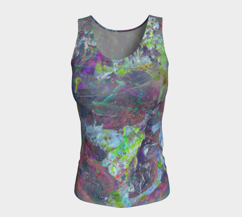 Mystik - Long Tank Top &&&-Fitted Tank Top (Long)-Fate Designs-Fate Designs
