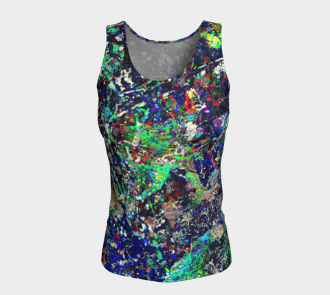 Noise Masters You - Long Tank Top &&&-Fitted Tank Top (Long)-Fate Designs-Fate Designs
