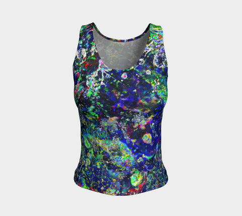 Noise Masters You - Long Tank Top &&&-Fitted Tank Top (Regular)-Fate Designs-Fate Designs